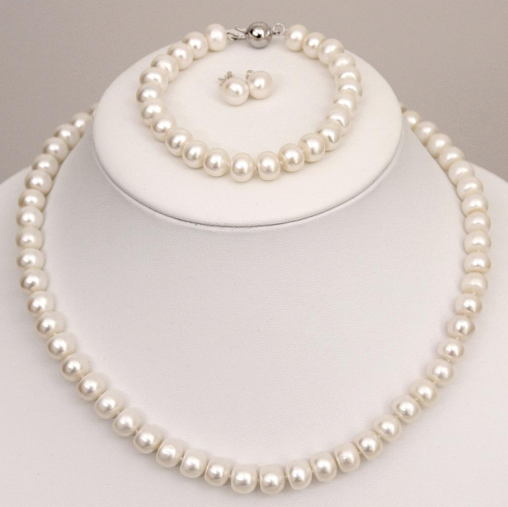 Pearl Set - Pure white, smooth, high luster